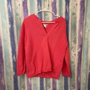Hannah long sleeve pink sweater
